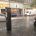 Streets in Cologne Flooded After Thunderstorm Hits City