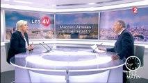 """Les 4 Vérités - Macron a """"commis plusieurs fautes graves successives"""", affirme Le Pen"""