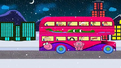 The Wheels On The Bus Go Round And Round  Popular Nursery Rhymes Collection I Children Songs
