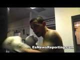 Boxing Drills Punching a heavy bag