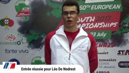 Entrée en simple réussie pour Léo De Nodrest
