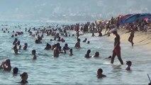 Antalya Alanya'da Plajlar Doldu