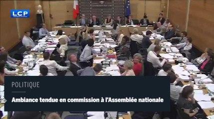 Ambiance tendue en commission à l'Assemblée nationale