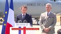 """Emmanuel Macron aux militaires :  """"Aucun budget autre que celui des armées ne sera augmenté"""" en 2018"""