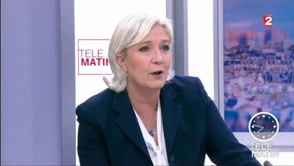 Télématin, France 2 : Marine Le Pen bute sur un mot, et traite son père de con
