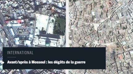 Avant/après à Mossoul : les dégâts de la guerre