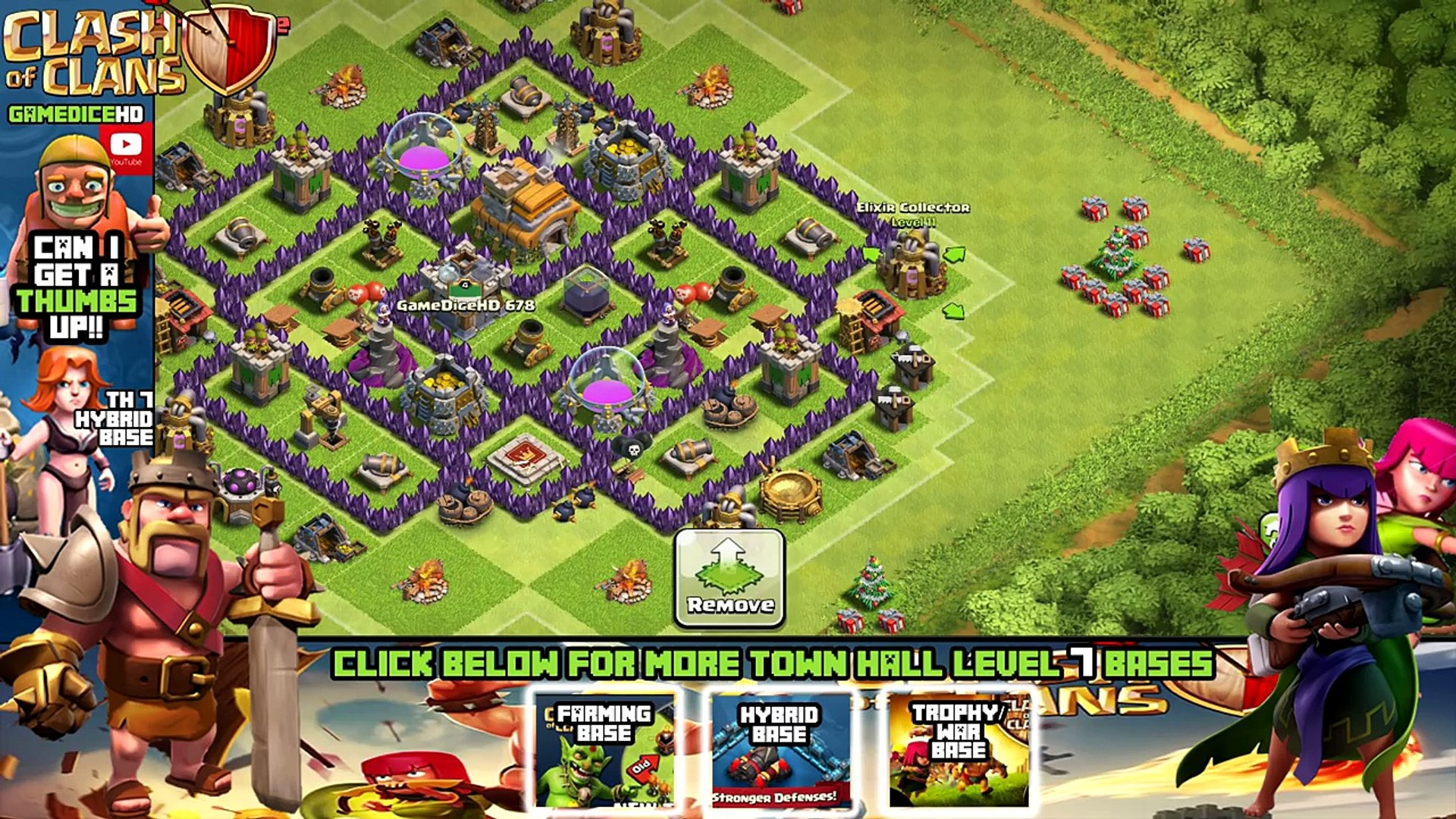 CLASH OF CLANS - TH7 FARMING BASE BEST TOWN HALL 7 Defense With NEW DARK  ELIXIR DRILL - Dailymotion Video