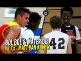 """Bol Bol & Mater Dei vs 7'5"""" GIANT Matt Van Komen! Bol Laughing at Defenders After Blocking 'Em!"""