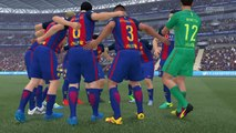 Champions League final 2030 Juventus vs Barcelona 1st half