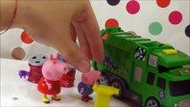 Dessin animé des déchets enfants porc Voir létablissement un camion la télé pep pep