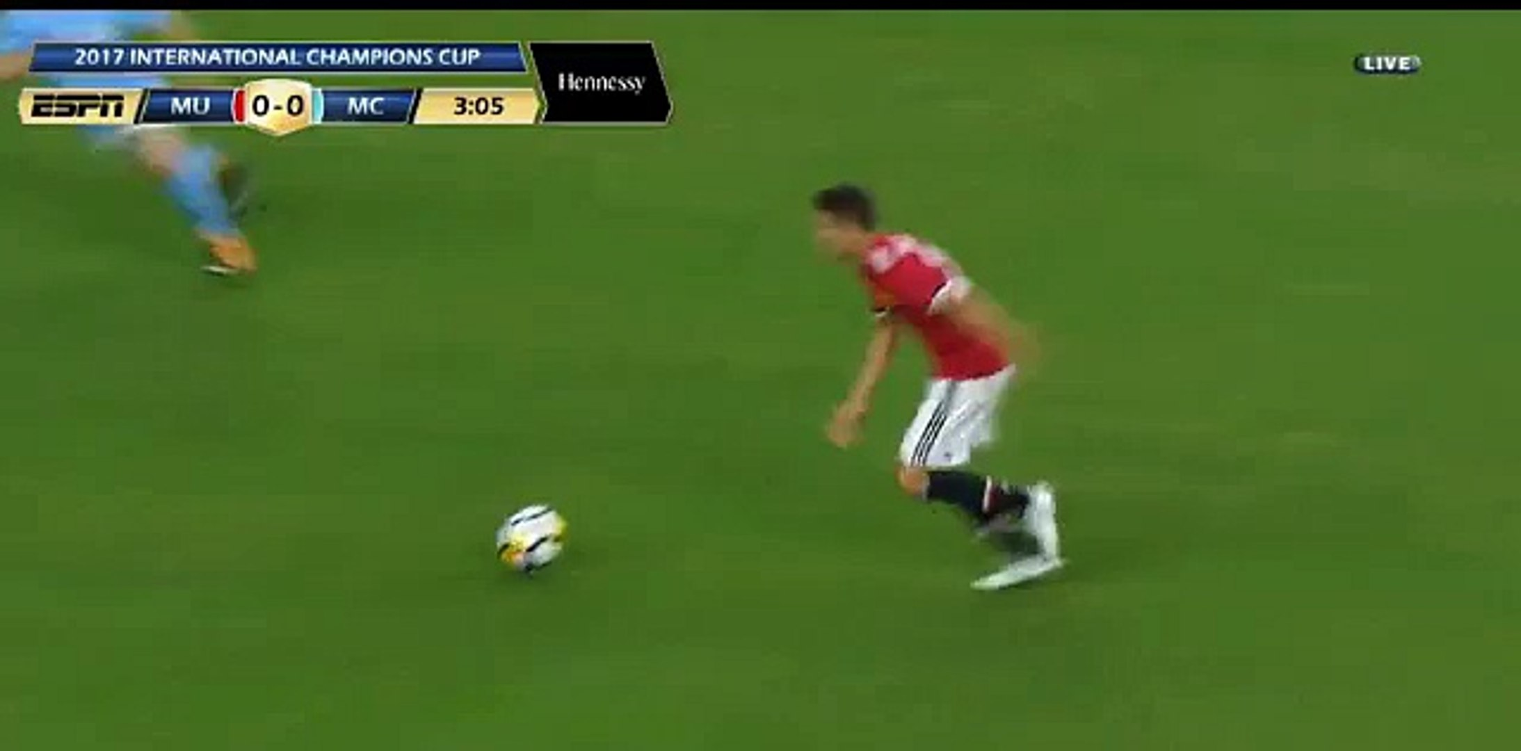 Ander Herrera Amazing shot - Manchester City 0-0 Manchester United - 20.07.2017 International Champi