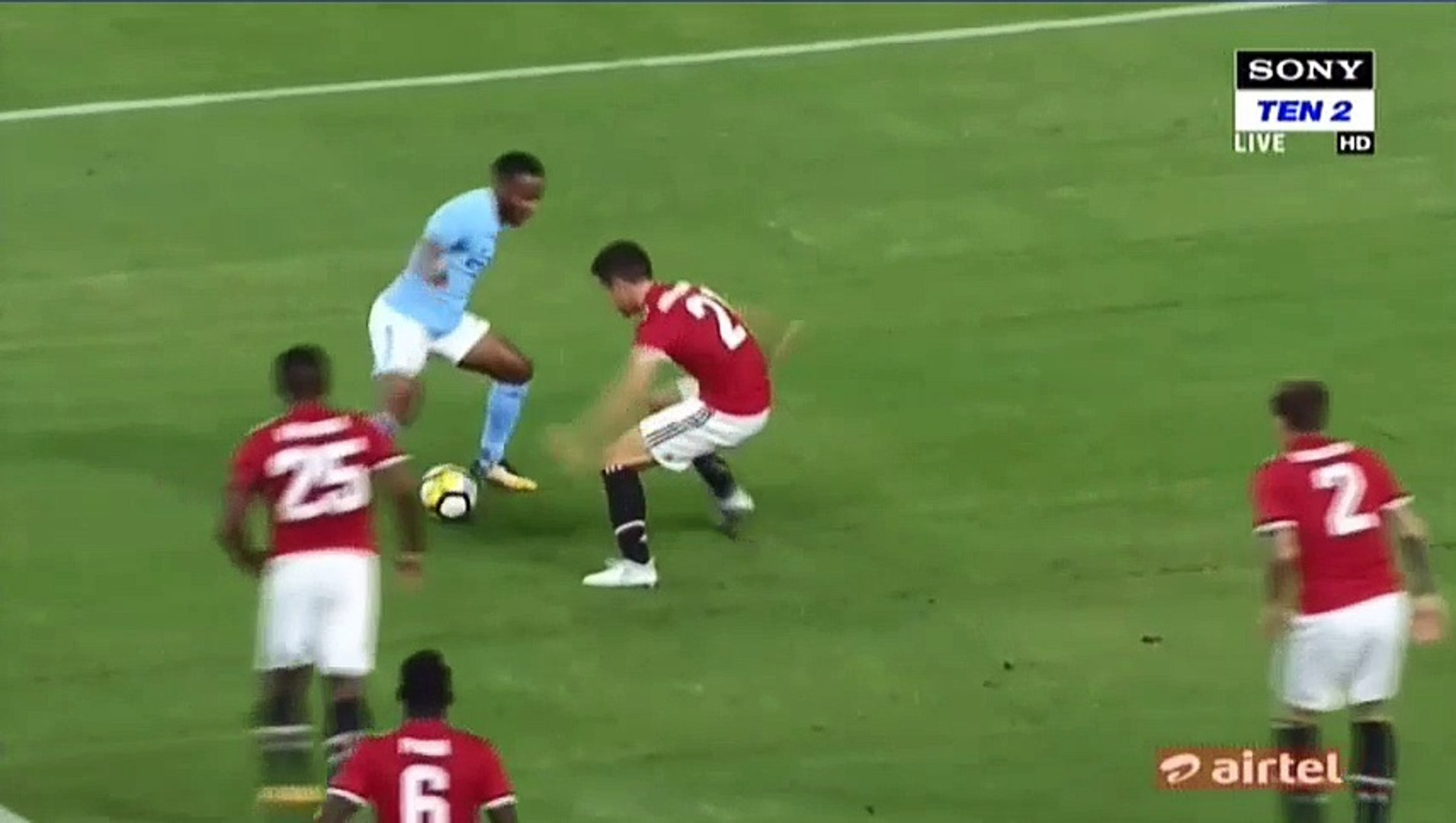 Raheem Sterling Incredible Miss HD - Manchester United 0-0 Manchester City 21.07.2017