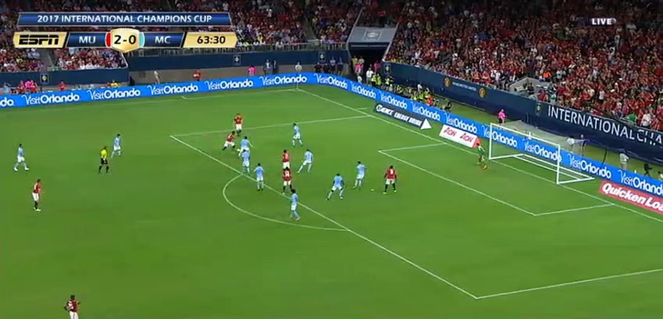 Paul Pogba Incredible Miss HD - Manchester United 2-0 Manchester City
