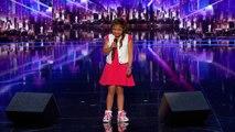 """Une fillette de 9 ans fait sensation en chantant """"Girl on Fire"""" dans America's Got Talent"""