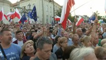 Thousands protest after Polish lawmakers approve judiciary overhaul