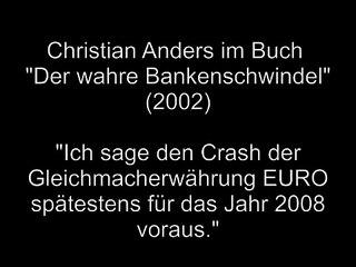 DER EURO CRASHT, Autor  Christian Anders - Buchtrailer