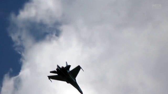 """un """"baile"""" increíble del SU-35S ✭ MAKS 2017 Rusia"""