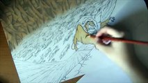 SPEED DRAWING SCAR - Disney The Lion King Watercolor Painting