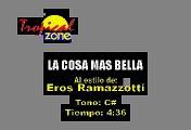 La Cosa Mas Bella - Eros Ramazzotti (Karaoke)