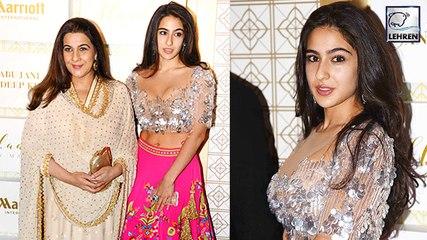 Sara Ali Khan Looks Stunning With Amrita Singh AT A Fashion Event