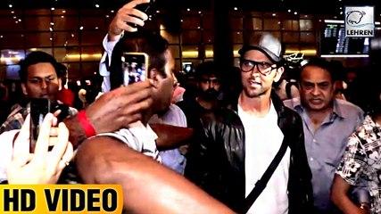 Hrithik Roshan Fans GO CRAZY After Spotting Him At Airport