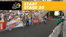 Départ du contre-la-montre / Start of the time trial - Étape 20 / Stage 20 - Tour de France 2017