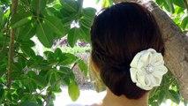 Bricolage une fleur tutoriel Fleur kanzashi, mariage kanzashi accessoire fleurs de bande