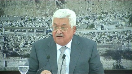 Palestinian leader freezes contact with Israel