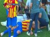 شاهد اصابة قاسية في أول مباراة في البطولة العربية بين نصر حسين داي الجزائري والوحدة الاماراتي