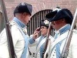 au c½ur du château de Belfort ,reconstitution d'une arrestation d'un voleur d'étain par les gendarmes républicains,
