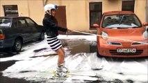 22.07.2017 град и снег на лыжах в Питере ( Пародия прикол ) Санкт-Петербург 22 июль 2017 год