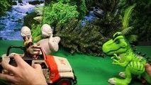 Batailles taureau par par dinosaures jurassique jouets contre monde Indominus rex t-rex dino wd