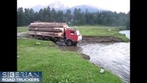 Condiciones Controladores extremo en en ruso camión en 4 camiones rusos condiciones extremas