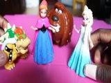 PRINCESS ELSA & ANNA'S CASTLE GETS ATTACKED BOWSER AGNES GRU OWLETTE DUKE DISNEY TSLOP  Toys BABY Videos , FROZEN , SUP