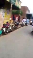 Abid Sher Ali On Bike In His Constituency