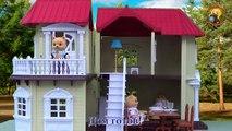 Familias familia Feliz para Casa de tres pisos analógicas de revisión de Sylvania juguetes niñas