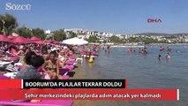 Bodrum'da plajlar tekrar doldu