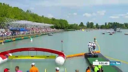 Arrivee du 25 km eau-libre des championnats du monde 2017
