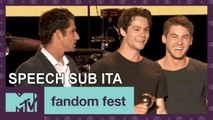 Teen Wolf Cast Accepts Fandom Icon  | Fandom Fest 2017 Comic Con |  MTV - SUB ITA