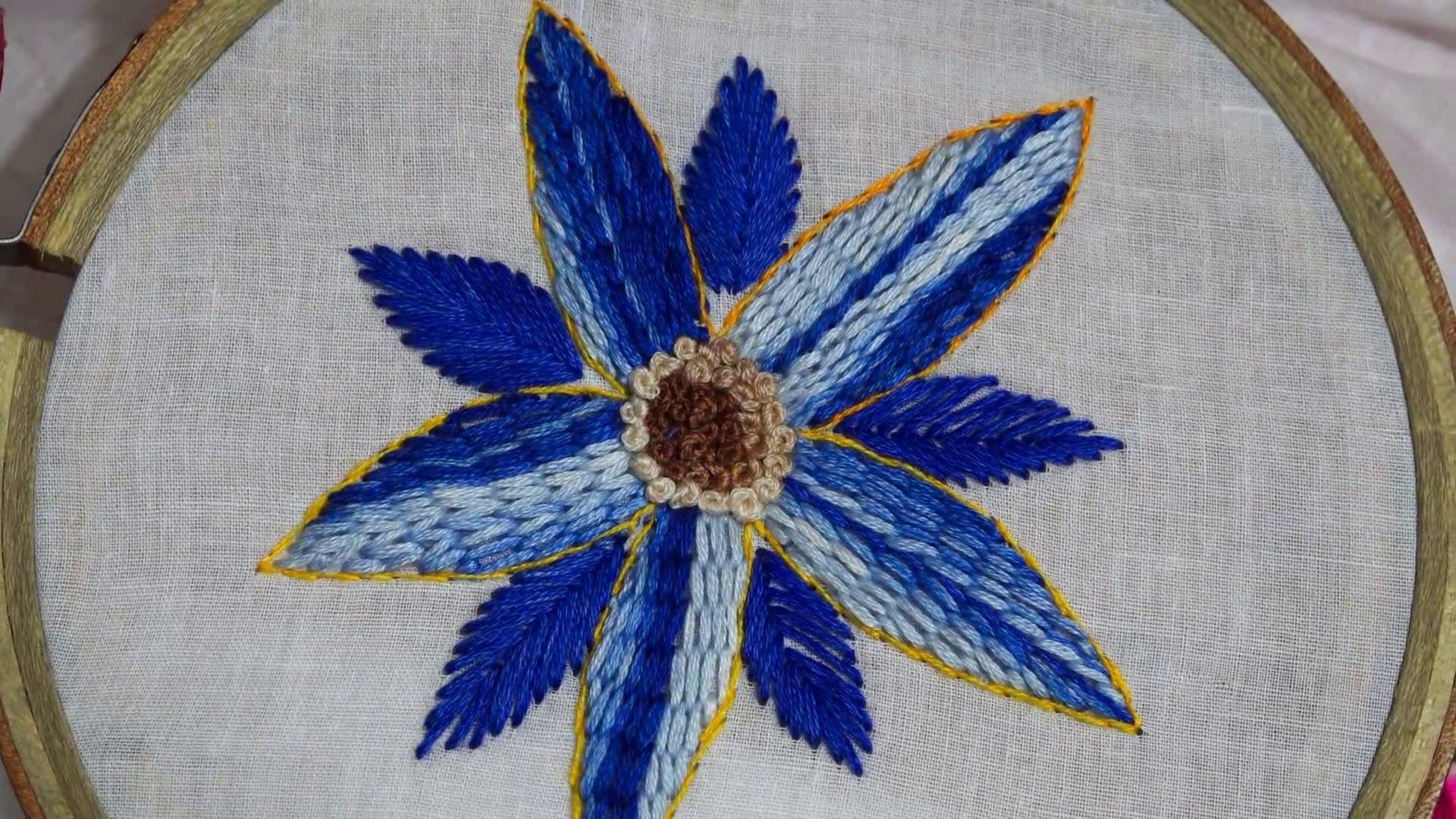 Hand Embroidery Hand Stitch Raised Stem Stitch Video Dailymotion