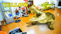 Learn Colors with BAD Baby JOHNY JOHNY Yes Papa Nursery Rhymes Song for Bad Kids & GIANT Crocodile