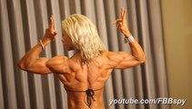 Deanna Harvick Flexing during webcam contest bodybuilding