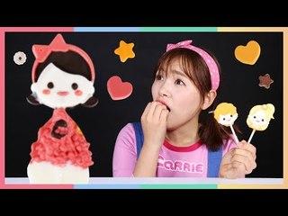 卡通巧克力棒棒糖DIY食玩,可以自己制作的美味   凱利和玩具朋友們   凱利TV