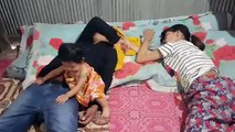 wow sleeping with baby sreymeas very funny March 29, 2017