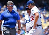 Dodgers ace Clayton Kershaw leaves game with back injury