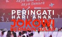 Peringati Hari Anak, Jokowi Bermain Sulap