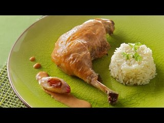 Poulet au vinaigre et riz pilaf - Yves Rivoiron pour Netto
