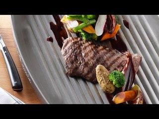 Steak grillé, jeunes légumes, jus à la bordelaise - Nicolas Magie pour Netto