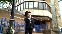 Seriously ill little boy becomes policeman for the day