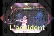 L'accident; spectacle de fin de stage à la ferme du Fays, mi-juillet 2017
